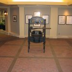 Custom brick flooring available at Miller Surface Gallery in Savannah, GA