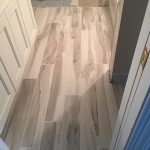 White marbled wood flooring installed by Miller Surface Gallery in Savannah, GA