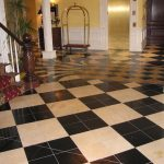 Black and White Entrance Flooring